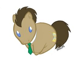 Doctor Whooves Chibi Chubby stickers by Bee-chan