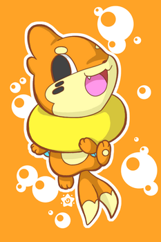 Bubbly Buizel by crayon-chewer