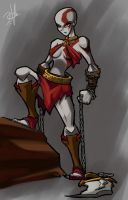 female kratos rough by chikinrise