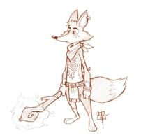 Tribal Fox Sketch by LuigiL