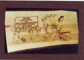 ACDC dirty deeds pyrography by WOODEWYTCH