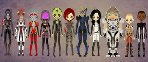 Mass Effect 2 - Paper Dolls by Shadow-People