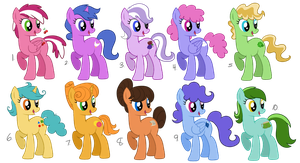 Adoptable Ponies 2 - free (closed) by Circus-Cinnamon