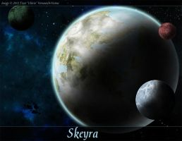 Skeyra - Space Art Commission by Ulario