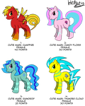 Pony Adoptables -CLOSED- by Hedgey