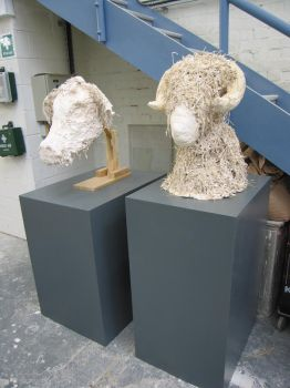 Plaster Heads: Cow and Ram by yautja