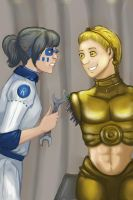 R2-D2 and C3-PO Humanize by AnnLin-Animeshka