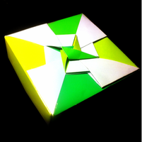 Green/Yellow Origami Box by H3LLoK66aren99