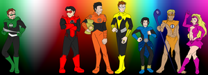 New Recruits for Lantern Corps by GoldphishCrackers