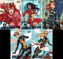 Captain America: Civil War sketch cards by mechangel2002