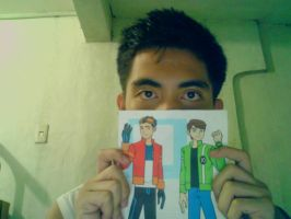 Me and A printed picture by Haretoshi17