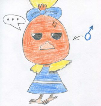 Annoyed Torchic Colored by Carnelian-Fox
