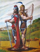 Captain Moroni and Helaman by bradlyvancamp