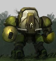 Jungle mech by ksenolog