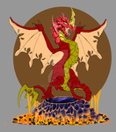 Drago of Flames(WIP) by mayle128