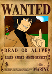 ONE PIECE OC WANTED POSTER - BENNETT by triptime245