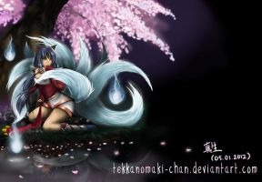 Ahri - The Nine Tail Fox by TekkanoMaki-chan