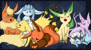 Eevee Family by katze-des-grauens
