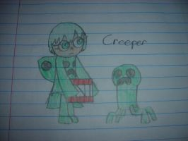 MineCraft - Creeper Girl by Waddle-Dance