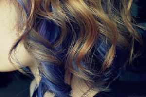 blue and blonde curly hair by chelsea-martin