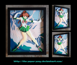 Commission: Sailor Jupiter Shadowbox by The-Paper-Pony