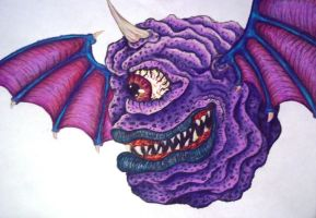 One Eyed, One Horned, Flying Purple People Eater by marandaschmidt