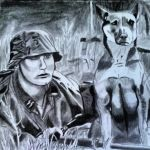 waffen SS soldier with his german sheperd dog by DeoKristady