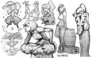 Korra Drawings from The Drawing Club by reiq