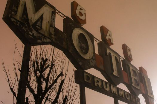Creepy Motel Sign by FromNothingToNothing