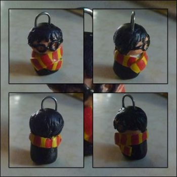 Harry Potter Clay Chibi Charm by fragile-star