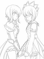 Estelle and Rita - Lines by mirabe