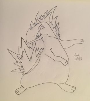 Quilava, Pokecember Day 5 by joe40287