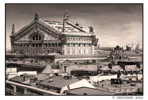 Opera Garnier roofs by bracketting94