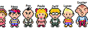 """The chosen 12 """"Mother 3 style"""" by LucasPSI"""