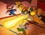 Mario and Luigi VS Bowser by captainsponge