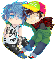 Couple Pixels :: [ homoechii ] by mushmelonn