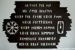 massive wooden norse artwork by Philophobos