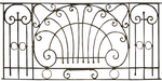 Gothic Iron Fence PNG by LavitaDistress