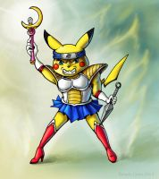 Sailor Saiyan Shinobi Pikachu by windfalcon