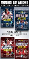 Memorial Day Party Flyer Templates by AnotherBcreation