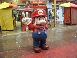 Super Mario in Manaus by RBM-Ink