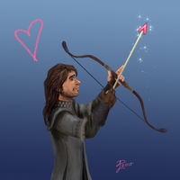 Hobbit Valentines ~ Kili by Contraltissimo