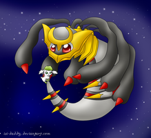 Sky Giratina and Sky Shaymin by Isi-Daddy