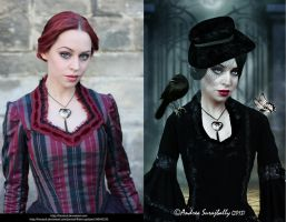 Before And After (black Widow) by Moonglowlilly