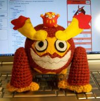 Darmanitan Crochet Plush by First-Mate-Kate