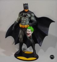 Batman and Joker head- Black by ddgcom