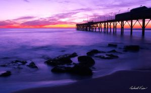 Purple Pier by robertvine