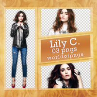 Pack Png 183 - Lily Collins by worldofpngs