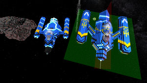 Top view of the Liger class ships by redfredrick