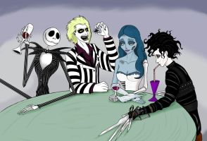 Tim Burton Family by odinforce23